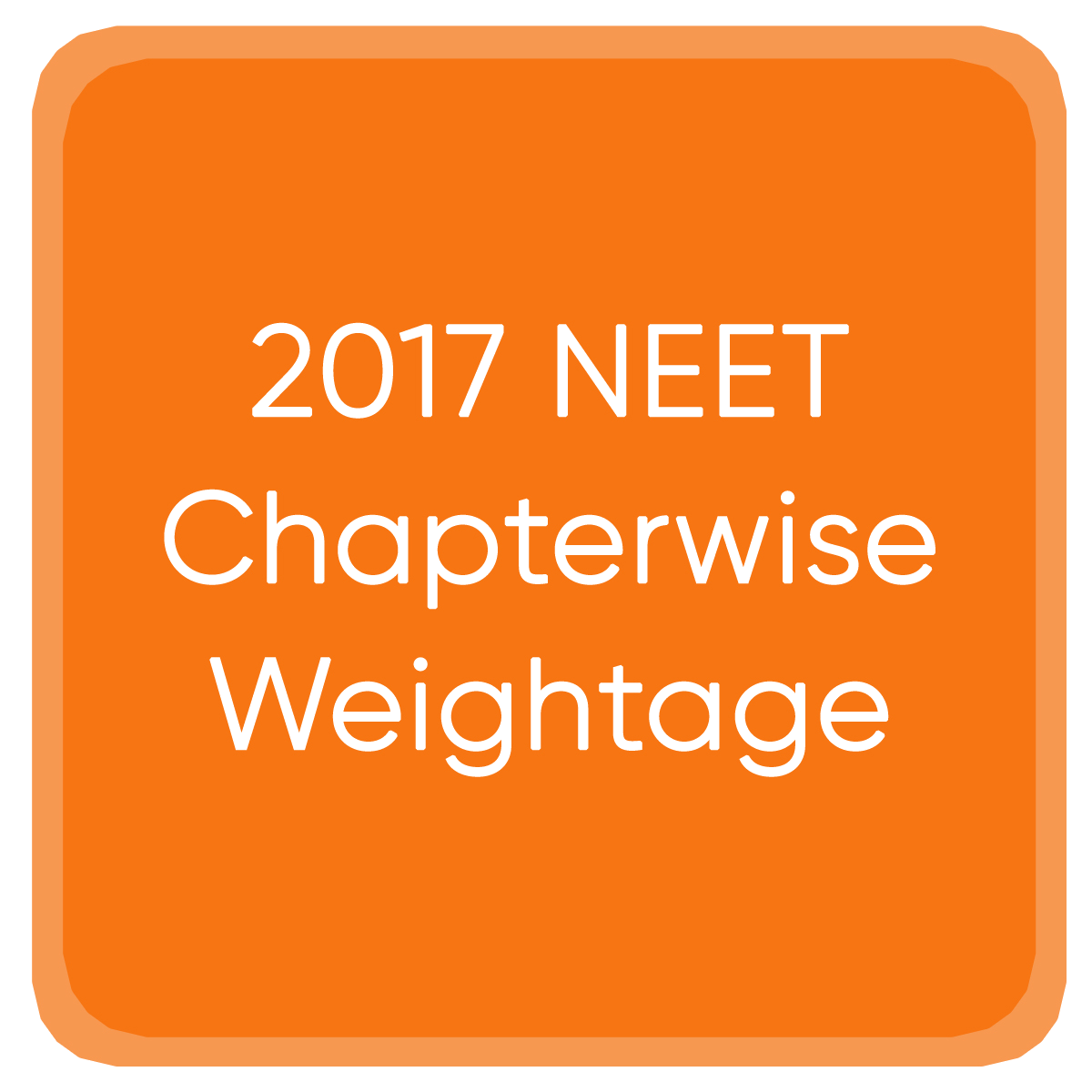 2017 NEET Chapterwise Weightage