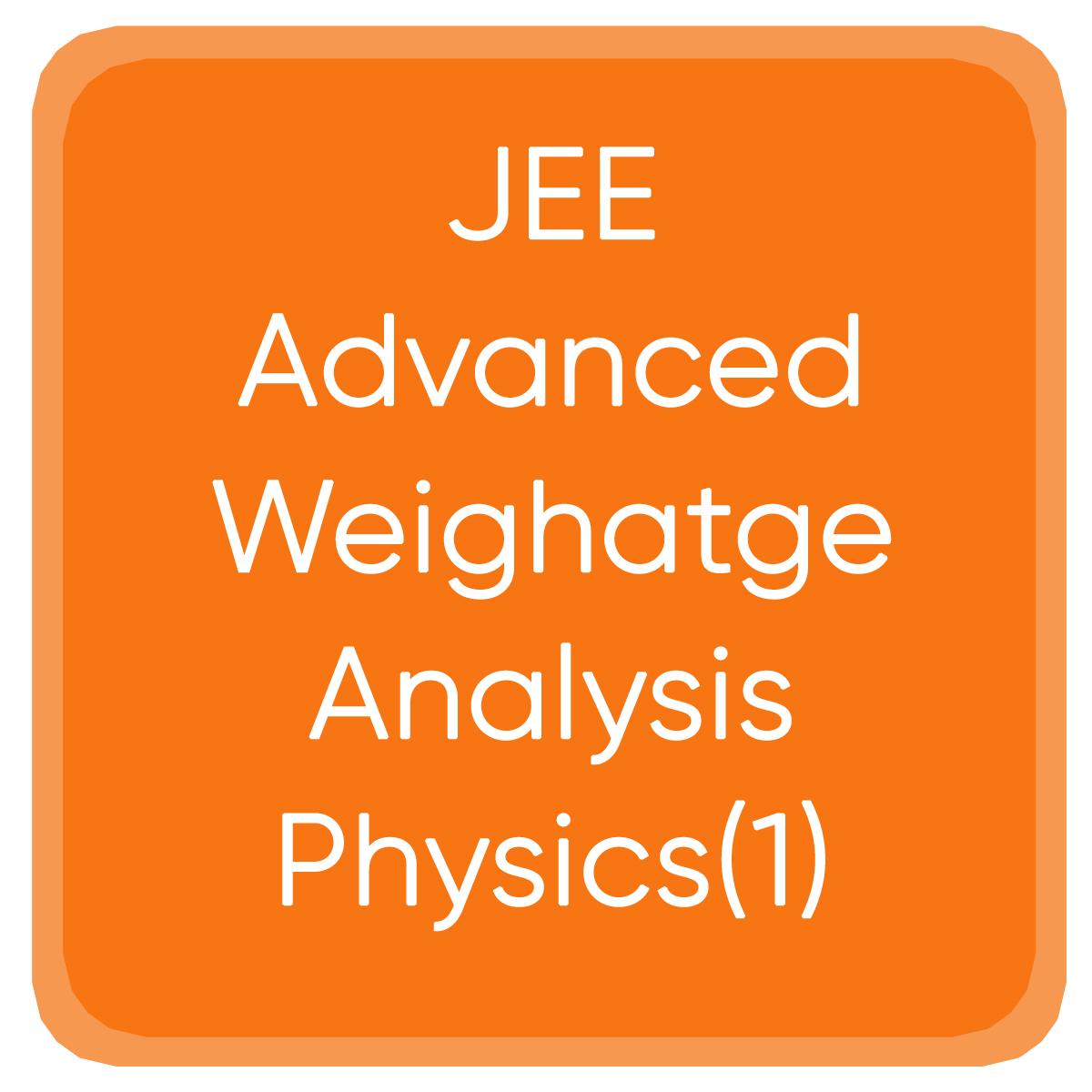 JEE Advanced Weighatge Analysis Physics(1)