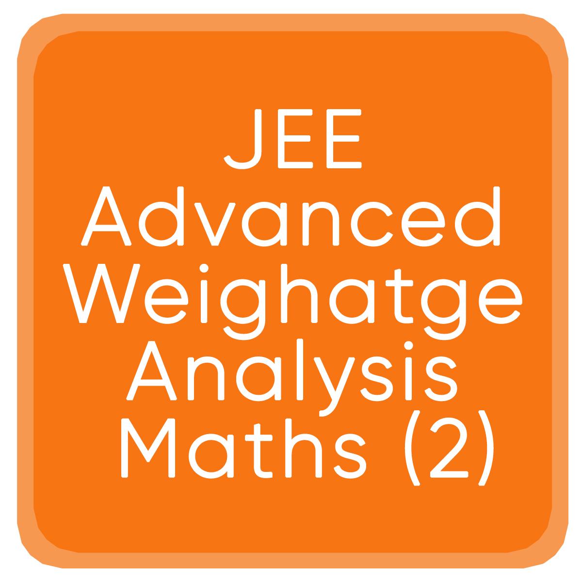 Jee Advanced Weighatge Analysis Maths (2)