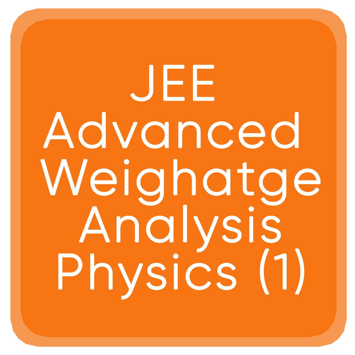 Jee Advanced Weighatge Analysis Physics (1)