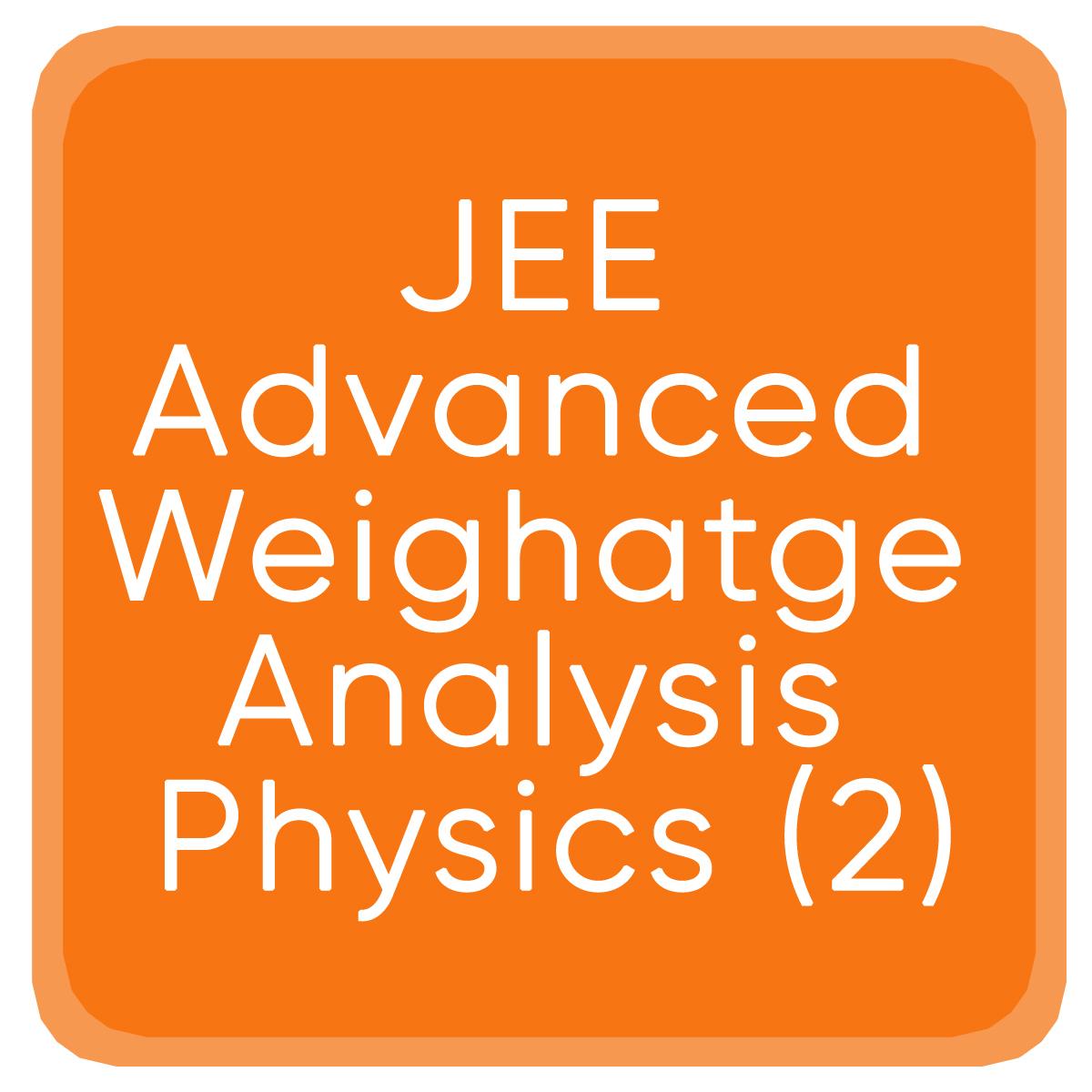 Jee Advanced Weighatge Analysis Physics (2)