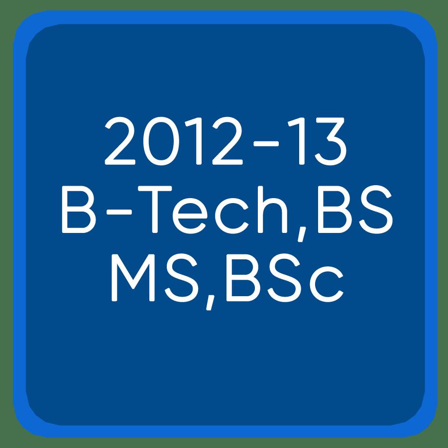 Jee Mains 2012-13 B-Tech,BSMS, BSc